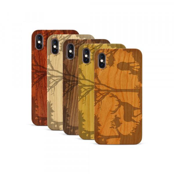iPhone XS Max Hülle Wildlife Hirsch aus Holz