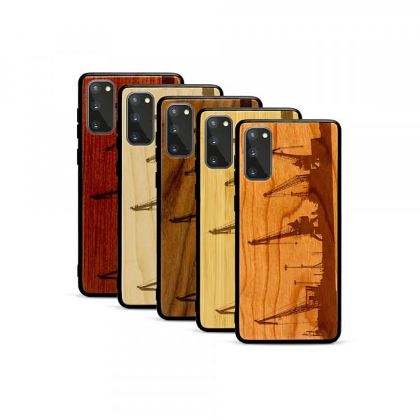 Galaxy S20 Hülle Industriedesign Kran aus Holz
