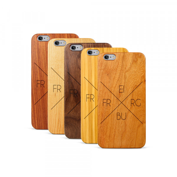 iPhone 6 & 6S Plus Hülle Freiburg X-Cross aus Holz