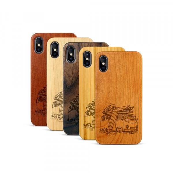 iPhone X & Xs Hülle Camper Van aus Holz