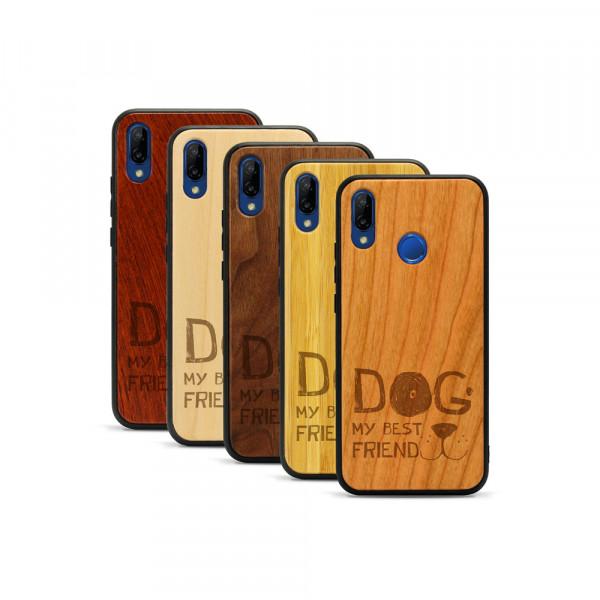 P20 lite Hülle Dog best friend aus Holz