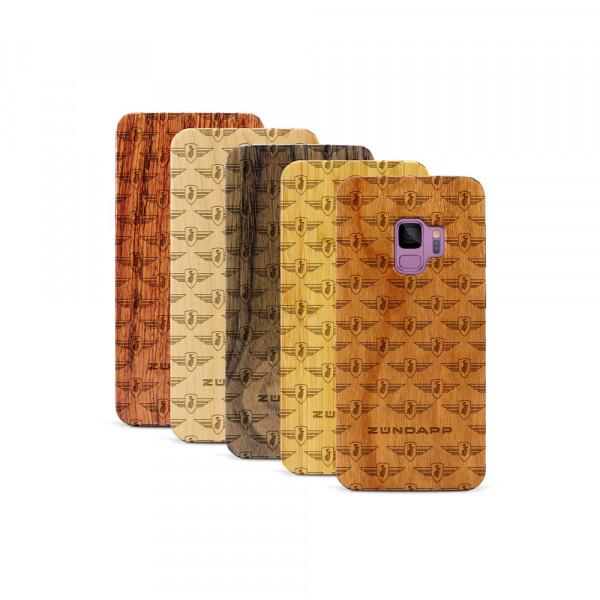 Galaxy S9 Hülle Zündapp Logo Muster aus Holz