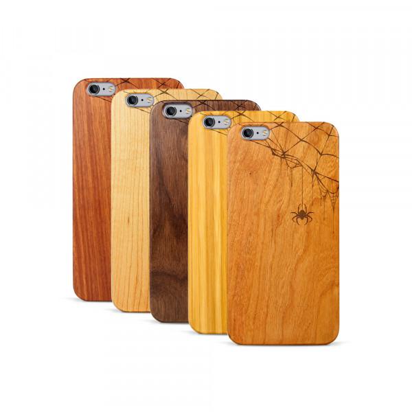iPhone 6 & 6S Plus Hülle Spinnennetz aus Holz