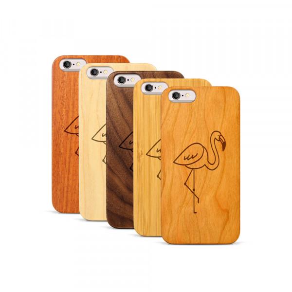 iPhone 6 & 6S Hülle Flamingo aus Holz