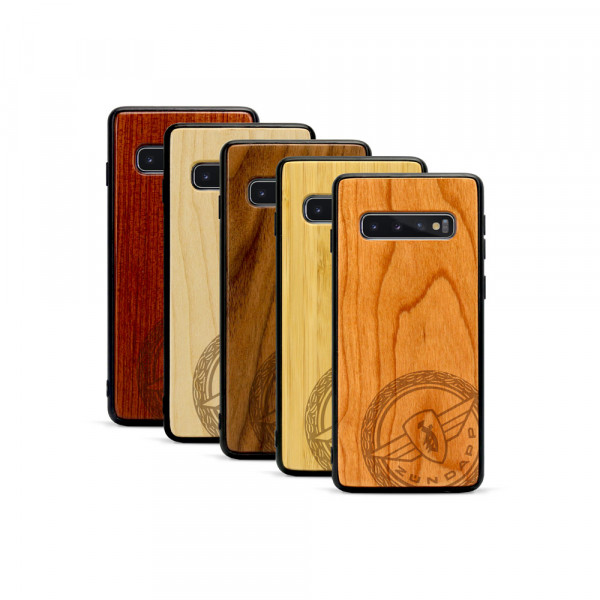 Galaxy S10 Hülle Zündapp Logo Klassik aus Holz