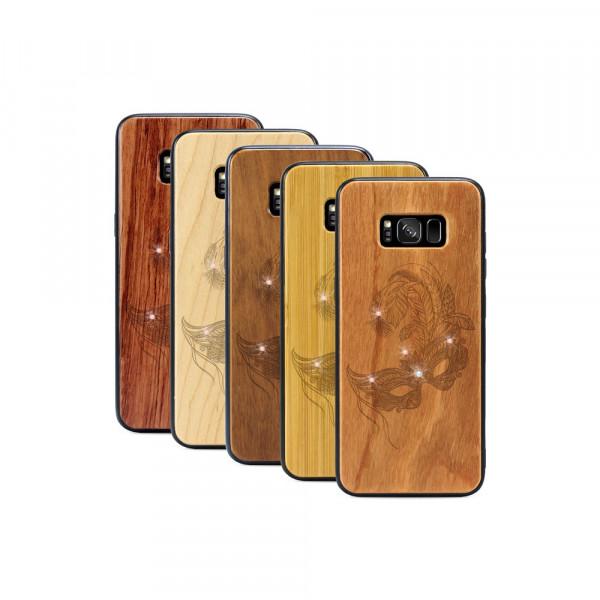 Galaxy S8+ Hülle Maskenball Swarovski® Kristalle aus Holz