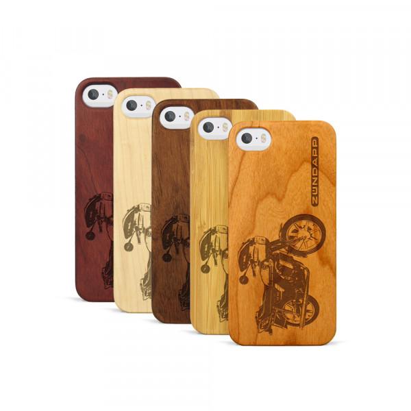 iPhone 5, 5S & SE Hülle Zündapp KS 80 aus Holz