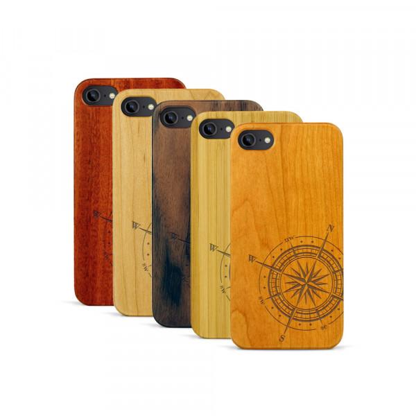 iPhone 7 Hülle Kompass aus Holz