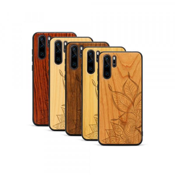 P30 Pro Hülle Mandala aus Holz