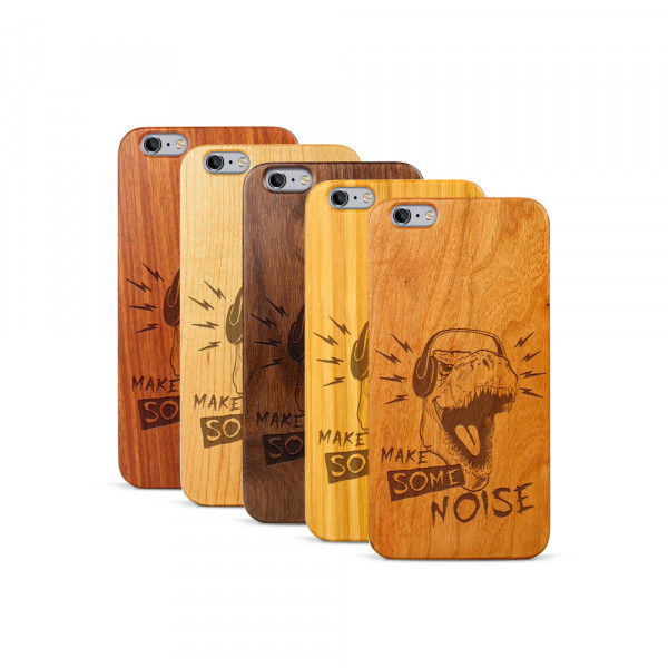 iPhone 6 & 6S Plus Hülle T-Rex aus Holz