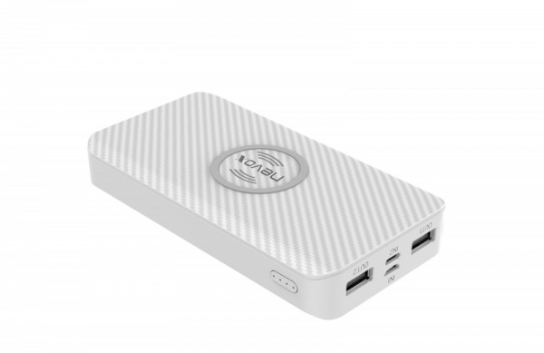 Nevox Wireless Qi POWERBANK 10.000mAh Triple-Input weiß