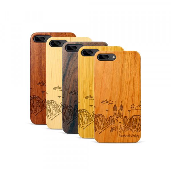 iPhone 7 & 8 Plus Hülle Freiburg Wiwilíbrücke aus Holz