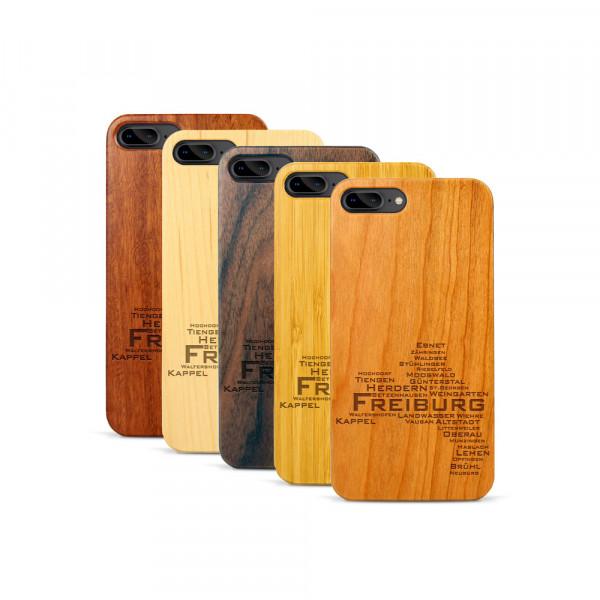 iPhone 7 & 8 Plus Hülle Freiburg Stadtteile aus Holz
