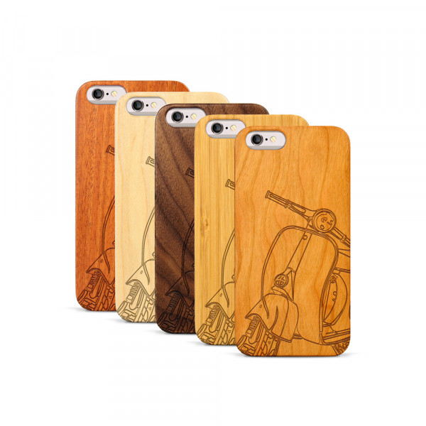 iPhone 6 & 6S Hülle Moped Silhouette aus Holz