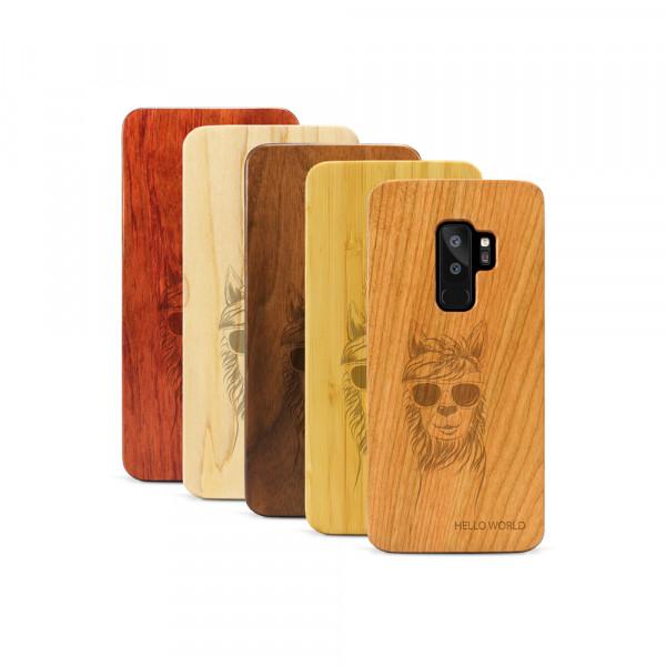Galaxy S9+ Hülle Llama aus Holz