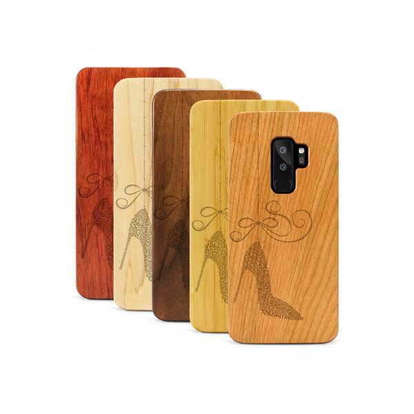 Galaxy S9+ Hülle Hanging Stiletto aus Holz