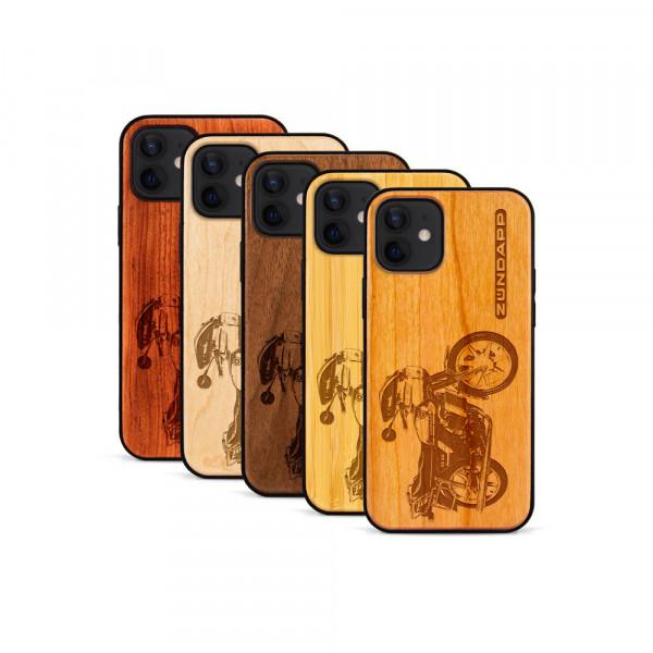 iPhone 12 Mini Hülle Zündapp KS 80 aus Holz