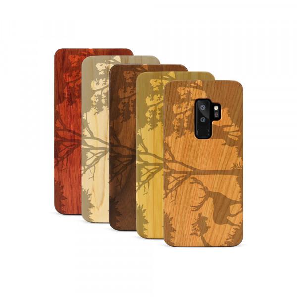 Galaxy S9+ Hülle Wildlife Hirsch aus Holz