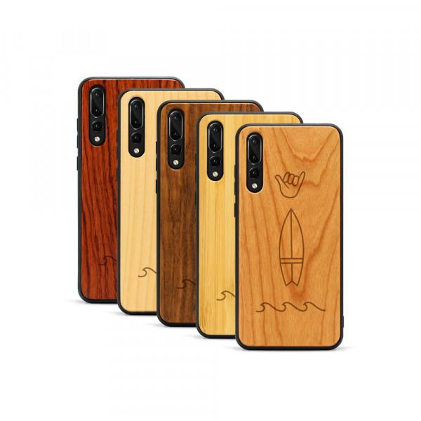 P20 Pro Hülle Surf Icons aus Holz
