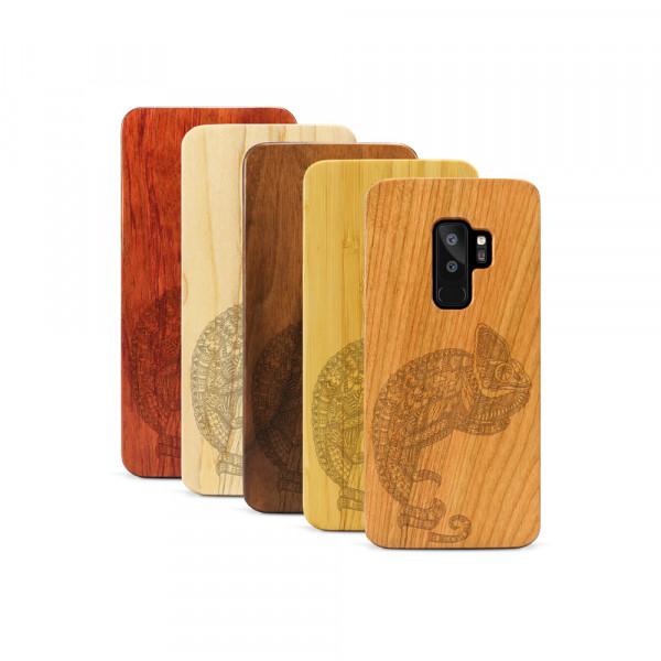 Galaxy S9+ Hülle Chamäleon aus Holz
