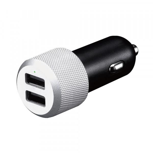 Just Mobile Highway Max Kfz-Ladegerät Dual-USB Alu Netzteil 10-24V