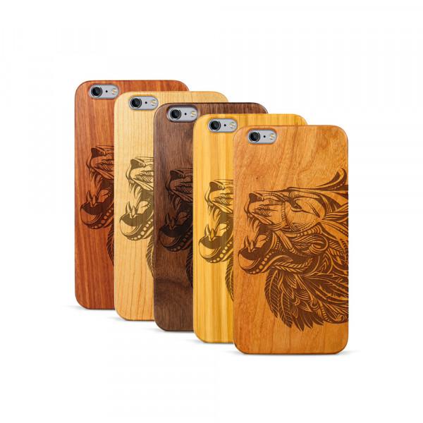 iPhone 6 & 6S Plus Hülle Löwenkopf aus Holz