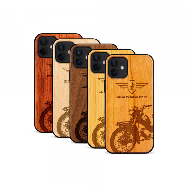 iPhone 12 Mini Hülle Zündapp C 50 Super aus Holz