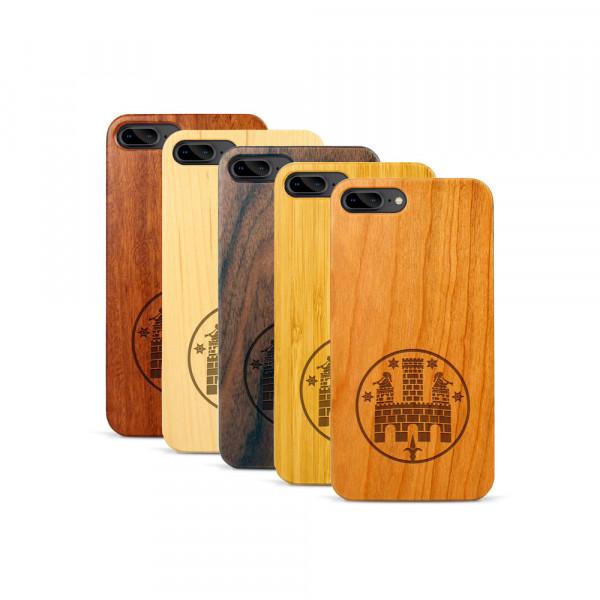 iPhone 7 & 8 Plus Hülle Freiburger Wasserschlössle aus Holz