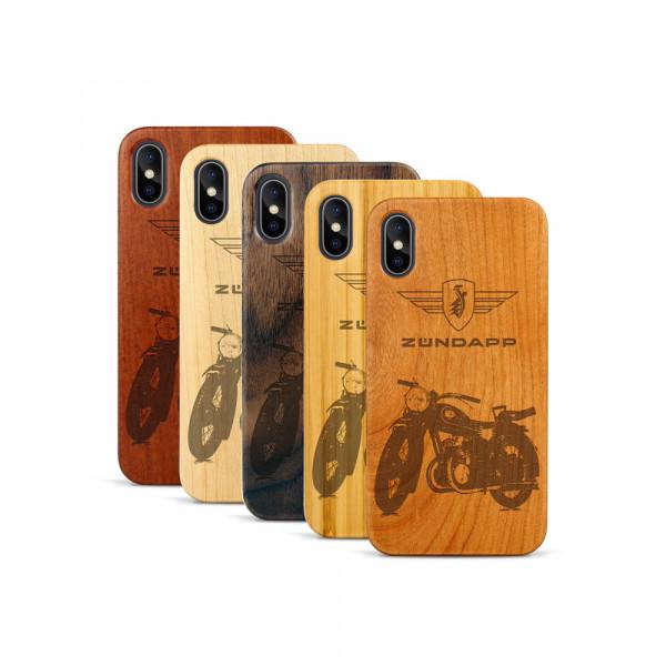 iPhone X & Xs Hülle Zündapp DB 200 aus Holz