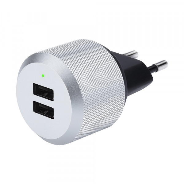 Just Mobile AluPlug USB Dual-Ladegerät Netzteil