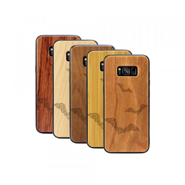 Galaxy S8+ Hülle Fledermaus Ornamente aus Holz