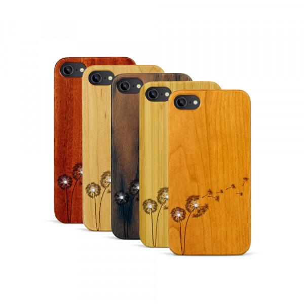 iPhone 7 Hülle Pusteblume Swarovski® Kristalle aus Holz
