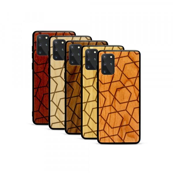 Galaxy S20+ Hülle Big Pattern aus Holz