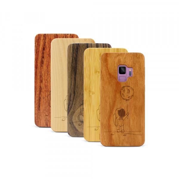Galaxy S9 Hülle Astronaut aus Holz
