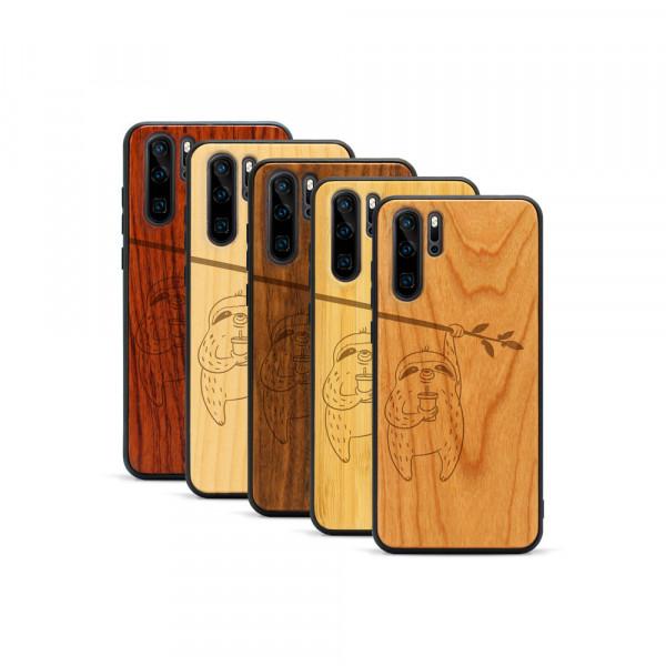 P30 Pro Hülle Faultier aus Holz
