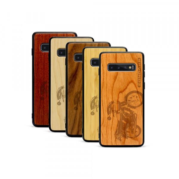 Galaxy S10+ Hülle Zündapp KS 80 aus Holz