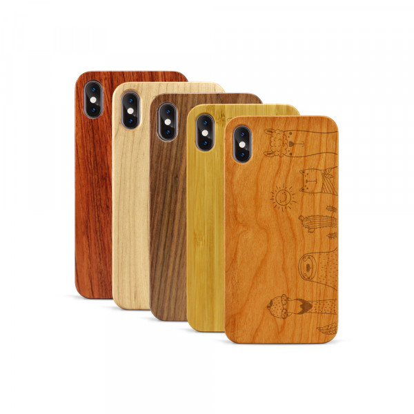 iPhone XS Max Hülle Animal Friends aus Holz