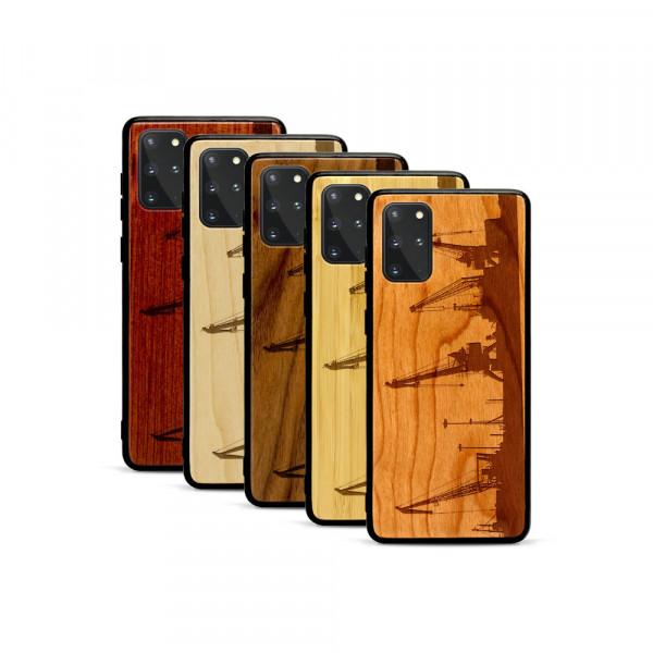 Galaxy S20+ Hülle Industriedesign Kran aus Holz