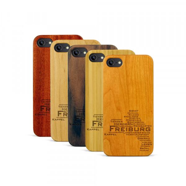 iPhone 7 Hülle Freiburg Stadtteile aus Holz