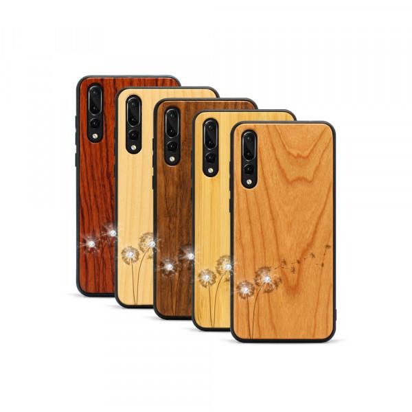 P20 Pro Hülle Pusteblume Swarovski® Kristalle aus Holz