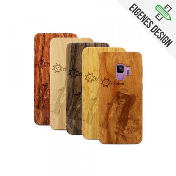 Galaxy S9 Hülle aus Holz selber gestalten mit individueller Gravur
