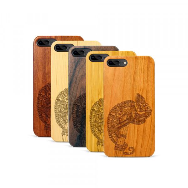 iPhone 7 & 8 Plus Hülle Chamäleon aus Holz