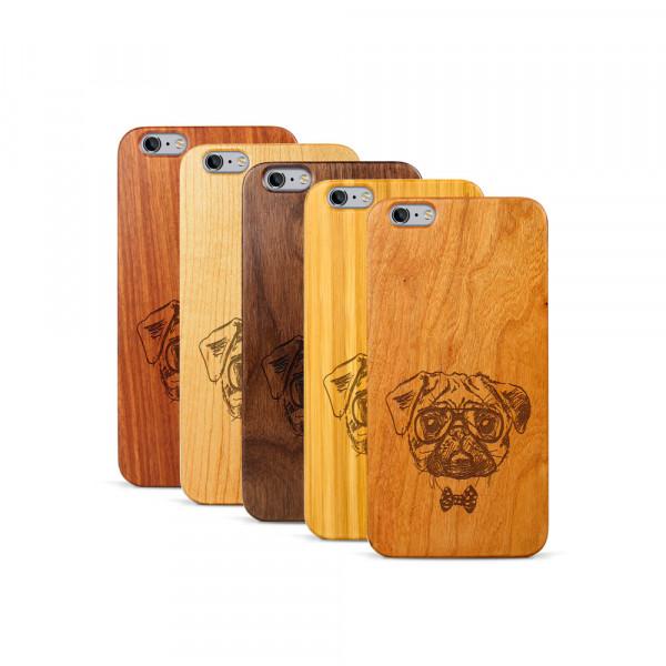 iPhone 6 & 6S Plus Hülle Fashion Mops aus Holz