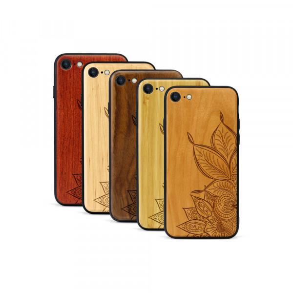iPhone 8 & SE Hülle Mandala aus Holz