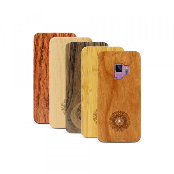 Galaxy S9 Hülle Mandala Swarovski® Kristalle aus Holz
