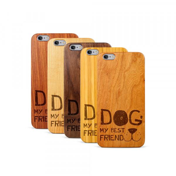 iPhone 6 & 6S Plus Hülle Dog best friend aus Holz