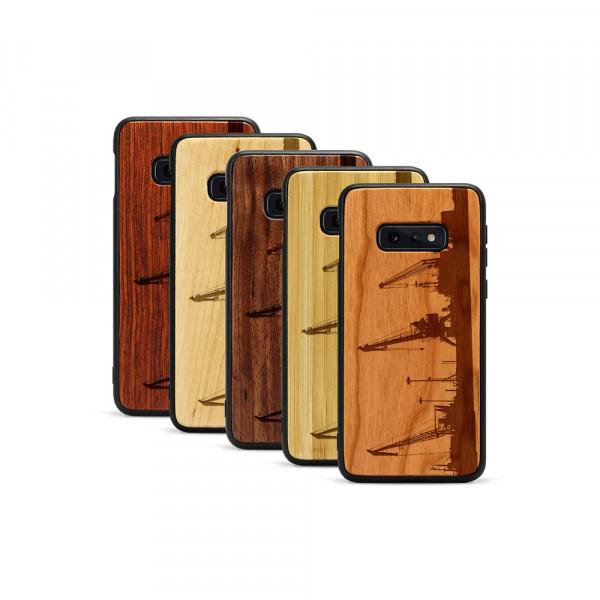 Galaxy S10e Hülle Industriedesign Kran aus Holz