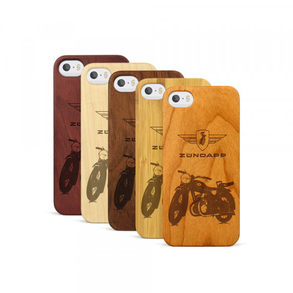 iPhone 5, 5S & SE Hülle Zündapp DB 200 aus Holz