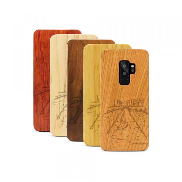 Galaxy S9+ Hülle Freiburg Bächleboot aus Holz