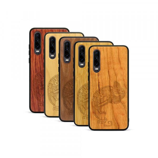 P30 Hülle Chamäleon aus Holz